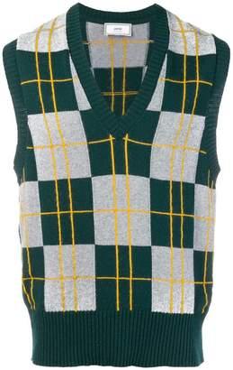 3bec6908c6d4bf Ami Alexandre Mattiussi V neck sleeveless sweater
