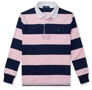 aec47d476 Ralph Lauren Childrenswear Boy's Striped Long Sleeves Rugby Shirt