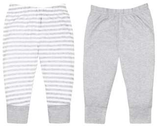 Little Star Organic 100% Organic Cotton Knit Pants, 2-pack (Baby Boys)