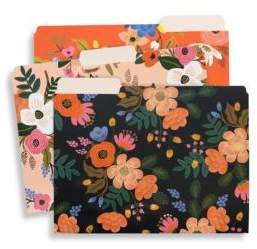 Lively Floral Folders/Set of 6