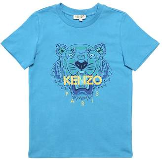 Kenzo Tiger Print Cotton Jersey T-Shirt