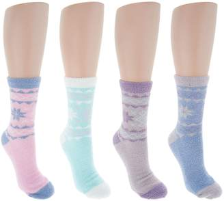 Muk Luks Jojoba Snowflake Socks Set of 4