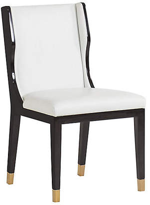 Taylor Side Chair - Ivory Leather - Kelly Hoppen