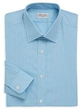 Charvet Regular-Fit Micro-Check Cotton Dress Shirt