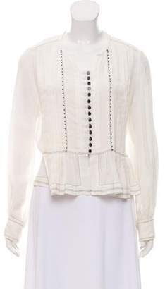 Isabel Marant Pleated Long Sleeve Blouse