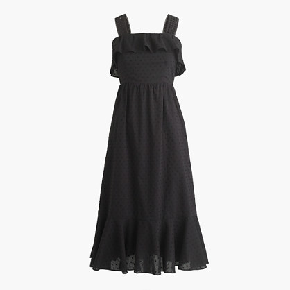 J.Crew Talltiered eyelet midi dress