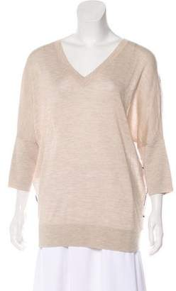 Derek Lam Cashmere & Silk-Blend Knit Top