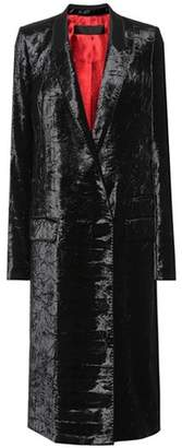 Haider Ackermann Crushed-velvet coat