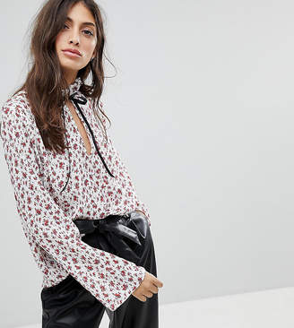 Reclaimed Vintage Inspired High Neck Blouse In Floral