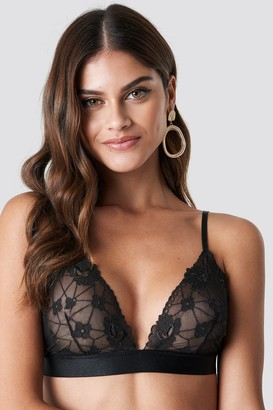 Na Kd Lingerie Floral Embroidery Mesh Bra