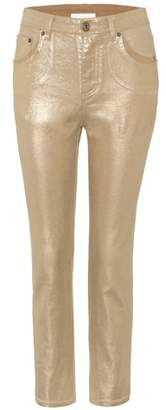 Chloé Exclusive to mytheresa.com – metallic cropped jeans