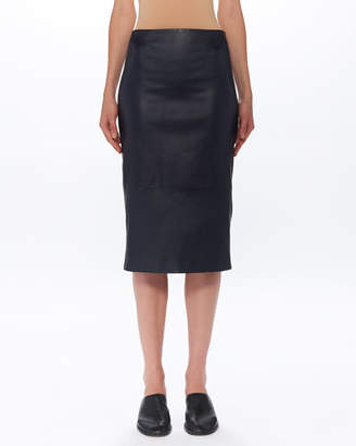 The Row Jaston Lambskin-Leather Midi Skirt