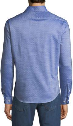 Neiman Marcus Slim-Fit Non-Iron Micro-Dobby Sport Shirt