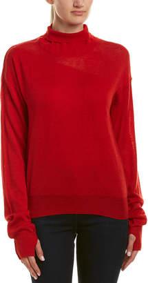 Helmut Lang Turtleneck Wool & Silk-Blend Sweater