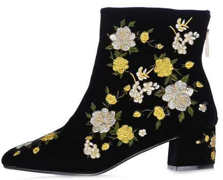 Topshop Topshop Blossom embroidered boots