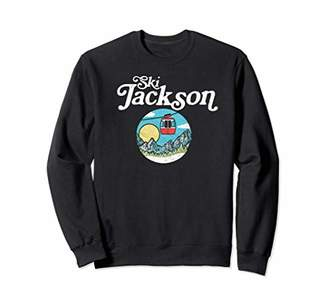 Ski Jackson Hole Retro Gondola Ski Lift Sweatshirt