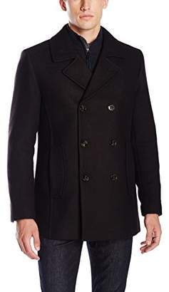 Ted Baker Men's Biza Double Breasted Peacoat