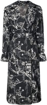 Alexander McQueen floral trench coat