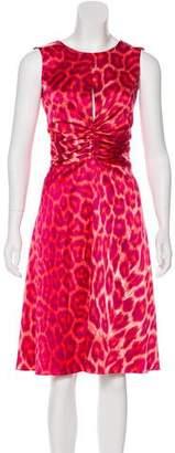 Just Cavalli Printed Sleeveless Midi Dress