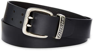 Dickies Black Leather Double Prong Belt