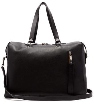 Burberry Grained Leather Holdall - Mens - Black