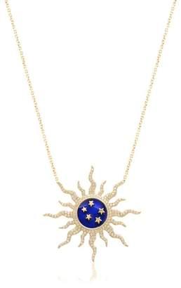 Gab+Cos Designs 14K Gold Vermeil CZ Sunburst & Star Pendant Necklace