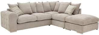 Cavendish Sophia Right-Hand Corner Chaise Sofa and Footstool
