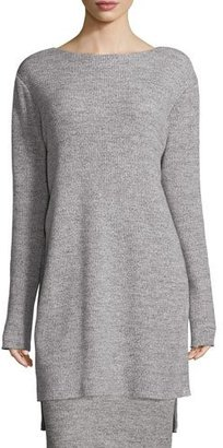 DKNY Ribbed Bateau-Neck Tunic, Heather Gray $498 thestylecure.com