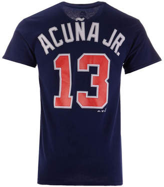Majestic Men Ronald Acuna Jr. Atlanta Braves Official Player T-Shirt