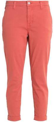J Brand Josie Cropped Cotton-Blend Twill Tapered Pants