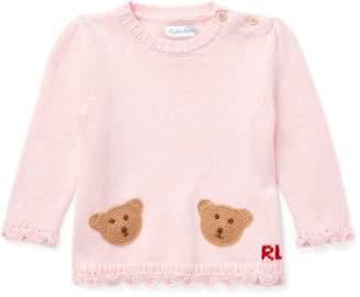 Ralph Lauren Bear-Pocket Cotton Jumper
