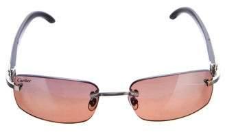 Cartier C Decor Sperone White Buffalo Horn Sunglasses