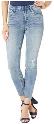 KUT from the Kloth Connie Ankle Skinny High-Rise w/ Raw in Decency/Light Base Wash