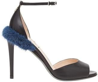 Fendi fur detail sandals