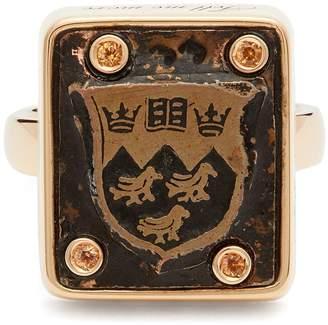 Francesca Villa Tell Me More emerald & rose-gold ring 3f9sC3v