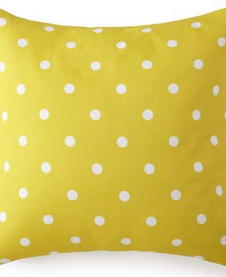 Blue Falls Euro Sham - Yellow Polka Dot Bedding