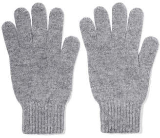 Johnstons of Elgin Cashmere Gloves - Light gray