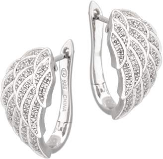 Affinity Diamond Jewelry Angel Wing Diamond Earrings, Sterling, 1/4ct by Affinity