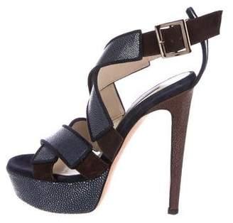 Chrissie Morris Stingray Platform Sandals
