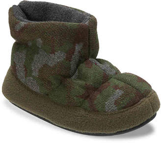 Dearfoams Camo & Fleece Toddler & Youth Boot Slipper - Boy's