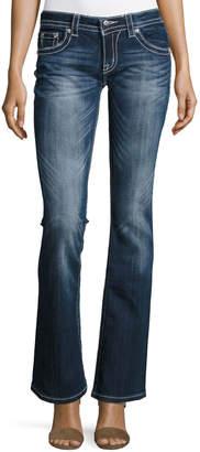 Miss Me Boot-Cut Embellished Pocket Jeans, Dark 417 $79 thestylecure.com