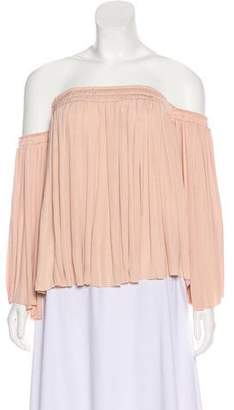 Elizabeth and James Off-the-Shoulder Pleated Top