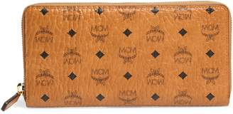 MCM Visetos Original Zip Around Coated Canvas Wallet