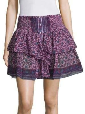 Poupette St Barth Honey Floral Mini Skirt