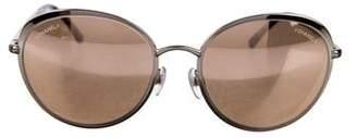 Chanel Reflective Round Sunglasses