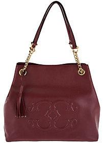 "C. WonderAs Is C. Wonder Pebble Leather Satchel Handbag with ""C"" Detail"