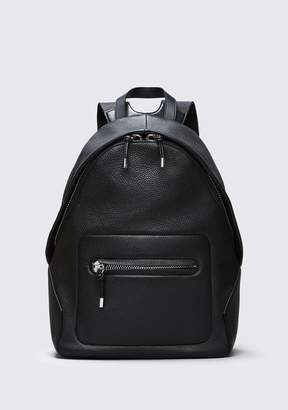 Alexander Wang BERKELEY BACKPACK IN PEBBLED BLACK WITH RHODIUM
