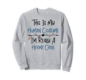 Hermit Crab Disguised Costume Girl Adult Women Cute Heart Sweatshirt