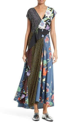 Women's Diane Von Furstenberg Faux Wrap Silk Maxi Dress