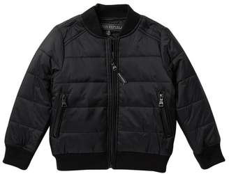Urban Republic Solid Quilt Bomber Jacket (Toddler & Little Boys)